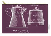 Coffee Pot Patent 1916 Red Carry-all Pouch