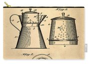 Coffee Pot Patent 1916 Sepia Carry-all Pouch