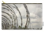 Coils Of Razor Wire On Fence Carry-all Pouch
