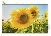 Colby Farms Sunflower Field Closeup Carry-all Pouch