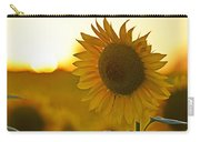 Colby Farms Sunflower Field Newbury Ma Closeup Sunset Carry-all Pouch