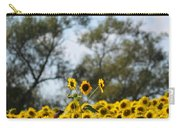 Colby Farms Sunflower Field Newbury Ma Standing Tall Carry-all Pouch