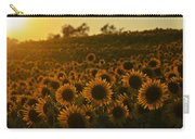 Colby Farms Sunflower Field Newbury Ma Sunset Carry-all Pouch