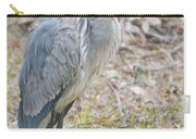 Cold Blue Heron Carry-all Pouch