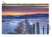 Cold Country Sunrise Carry-all Pouch