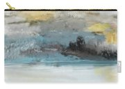 Cold Day Lakeside Abstract Landscape Carry-all Pouch