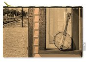 Cold Point Village Station - Banjo Mandolin In Sepia Carry-all Pouch