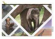 Collage Of Animals From Tanzania Carry-all Pouch