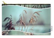 Collage Of Winter Grass Carry-all Pouch