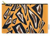 Collage Yellow Black Brown Carry-all Pouch