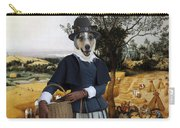 Collie Smooth - Smooth Collie Art Canvas Print - The Harvesters Carry-all Pouch