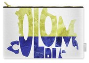 Colombia Typographic Map Flag Carry-all Pouch by Inspirowl Design
