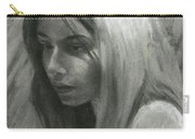 Portrait Of Woman In Charcoal Carry-all Pouch