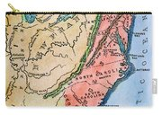 Colonial America Map Carry-all Pouch