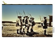 Colonial Soldiers Standing At Attention Carry-all Pouch
