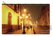 Colonial Street In Central Lima At Night Carry-all Pouch