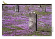 Colonial Tombstones Amidst Graveyard Phlox Carry-all Pouch by John Stephens