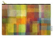 Color Collage With Green And Red 2.0 Carry-all Pouch by Michelle Calkins