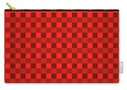 Color Dots On Red Drawing Abstract #7 Carry-all Pouch