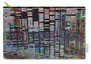 Color Grid - Gold Line Carry-all Pouch