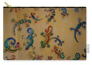 Color Lizards On The Wall Carry-all Pouch