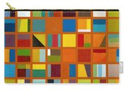 Color Study Collage 66 Carry-all Pouch by Michelle Calkins