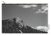 Colorado Buffalo Rock With Waxing Crescent Moon In Bw Carry-all Pouch