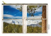 Colorado Rocky Mountain Rustic Window View Carry-all Pouch