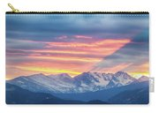 Colorado Rocky Mountain Sunset Waves Of Light Part 1 Carry-all Pouch