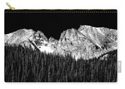 Colorado Rocky Mountains Indian Peaks Fine Art Bw Print Carry-all Pouch