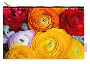 Colored Buttercup Flowers Carry-all Pouch