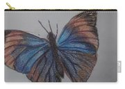 Colored Butterfly Carry-all Pouch