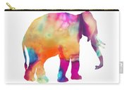 Colored Elephant Painting Carry-all Pouch