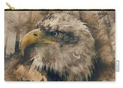 Colored Etching Of American Bald Eagle Carry-all Pouch
