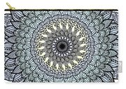 Colored Flower Zentangle Carry-all Pouch