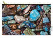 Colored Polished Stones Carry-all Pouch