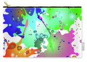 Colored Splashes On A Blue Background Carry-all Pouch