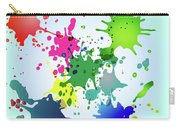 Colored Splashes On A Very Beautiful Blue Background Carry-all Pouch