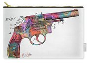Colorful 1896 Wesson Revolver Patent Carry-all Pouch by Nikki Marie Smith