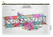 Colorful 1906 Wright Brothers Flying Machine Patent Carry-all Pouch
