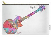 Colorful 1955 Mccarty Gibson Les Paul Guitar Patent Artwork Mini Carry-all Pouch by Nikki Marie Smith