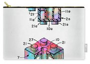 Colorful 1961 Lego Brick Patent Minimal Carry-all Pouch