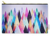 Colorful Abstract Geometric Triangle Peak Woods  Carry-all Pouch