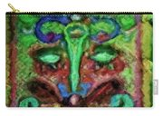 Colorful Abstract Painting Swirls And Dabs And Dots With Hidden Meaning And Secret Stories Of Birds  Carry-all Pouch