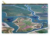 Colorful Aerial Of Commercial Farmland In Stockton - Medford Island - San Joaquin County, California Carry-all Pouch