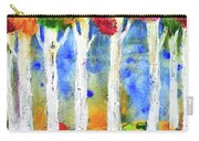 Colorful Aspen Trees View Carry-all Pouch