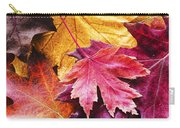 Colorful Autumn Leaves Closeup Carry-all Pouch