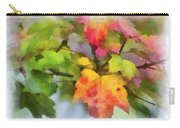 Colorful Autumn Leaves - Digital Watercolor Carry-all Pouch