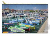 Colorful Boats Docked In Nice Marina, France Carry-all Pouch