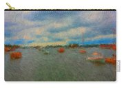 Colorful Boats On Cloudy Day At Boothbay Harbor Carry-all Pouch